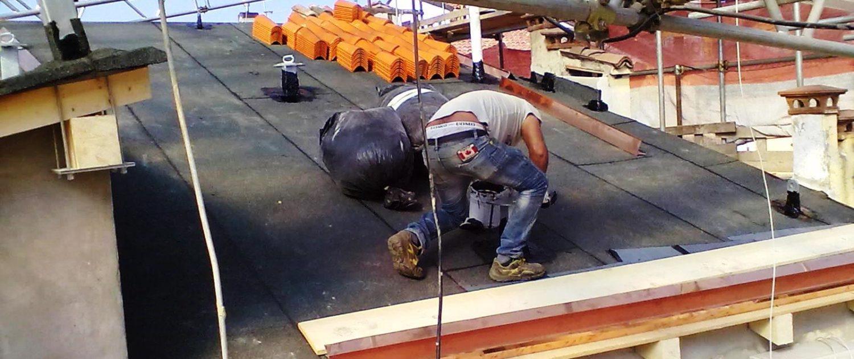 Tecnocem - Impermeabilizzazione di un tetto a Bologna