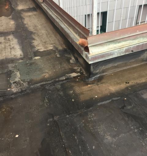 Cantiere Tecnocem - Ristrutturazione Cantiere Borgo Masini Bologna - Guaina danneggiata